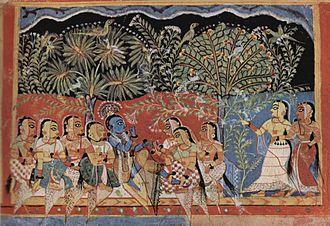 Indian painting - Gita Govinda depicted in Pattachitra