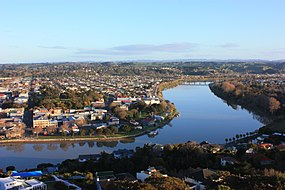 Skyline of Whanganui .mw-parser-output .nobold{font-weight:normal}or Wanganui
