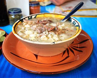 Pozole traditional soup or stew from Mexico