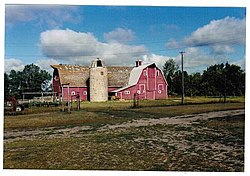 Historic William J. White's barn, near Goodwater