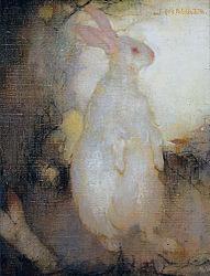 Jan Mankes: Lapin blanc, debout