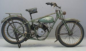 Whizzer (motorcycles) - 1947 Whizzer Luxembourg (Built in Europe)