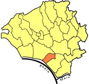 Mainz-Amöneburg - Location of Mainz-Amöneburg
