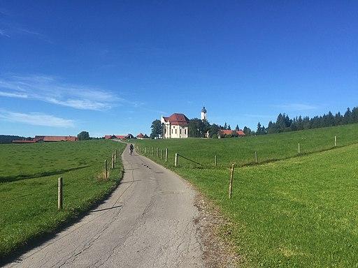 Weg südlich der Wieskirche