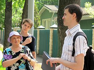 Wiki Party in Moscow 2013-05-18 (City tour; Krassotkin; 19).JPG