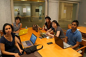 Attendees at the Wikipedia APA Edit-a-Thon