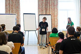 Wikimedia Hackathon Vienna 2017-05-19 Mentoring Program Introduction 025.jpg