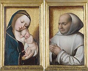 Diptych: ''Virgin and Child'' and ''Portrait of Willem van Bibaut''