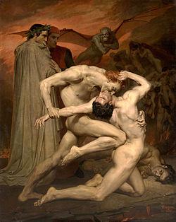 dante y virgilio en el infierno bouguereau   wikipedia