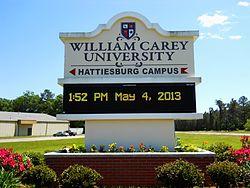 William Carey Tradition Campus Nature Behivioral Science