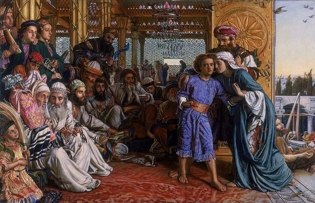 """The Finding of the Saviour in the Temple"" by William Holman Hunt"