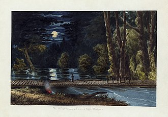 Peninsula Campaign - The Chickahominy - Sumner's Upper Bridge: 1862 watercolor by William McIlvaine