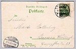 Willy Hoehl Ansichtskarte Zur Erinnerung an den Kaiserbesuch Wilhelm II. in Barmen-Elberfeld. Adressseite.jpg