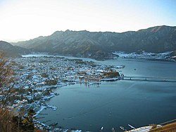 A view of Lake Kawaguchiko