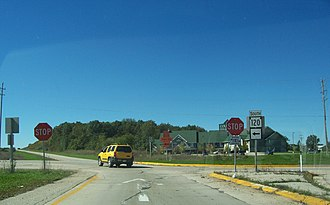 Wisconsin Highway 120 - Northern terminus