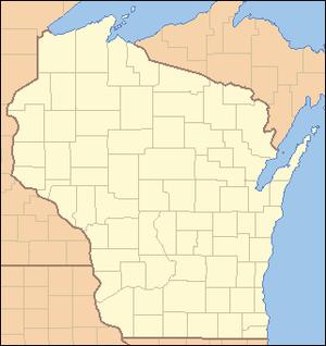 Wiota, Wisconsin - Image: Wisconsin Locator Map