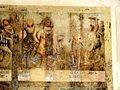 Wissous (91), église Saint-Denis, bas-côté, fresque de sainte Barbe, 3e tableau.jpg