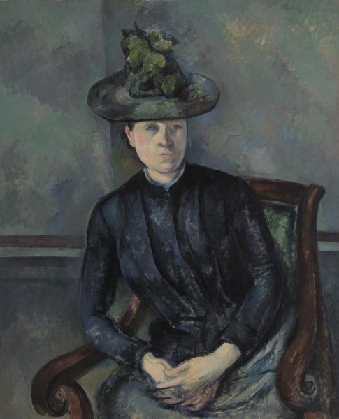 Woman in a Green Hat (by Paul C%C3%A9zanne, 1894-95)