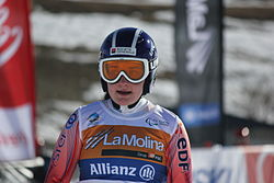 Women's sitting superg skier number 6sd