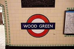 WoodGreen - Roundel on eastbound platform after (4571286674).jpg