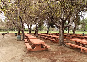 Sepulveda Dam - Woodley Park group picnic area.