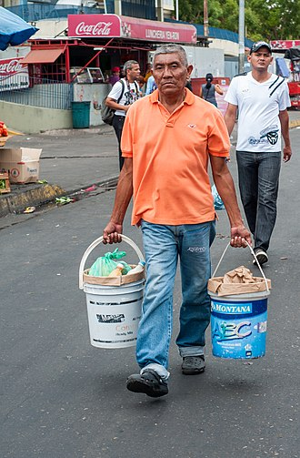 Bail handle - Image: Working old man carrying buckets