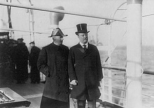 Robley D. Evans - Evans (left) and President Theodore Roosevelt aboard Roosevelt's yacht, The Mayflower