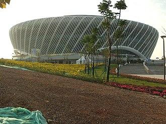 Optics Valley International Tennis Center - Image: Wuhan SE DSCF1118 Olympics Sports Center