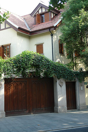 Shanghai French Concession - A house on Wukang Road (Route Ferguson), a well-preserved example of a residential street in the former French Concession