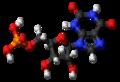 Xanthosine monophosphate molecule ball.png
