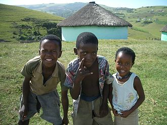 Xhosa people - Xhosa children in former Transkei