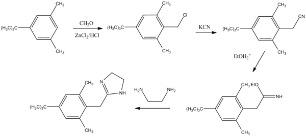 Xylometazoline synthesis.png
