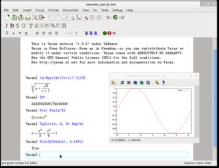 Yacas computer algebra system