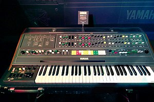 Yamaha CS-80 - Image: Yamaha CS 80 (1977) 8 voices dual layered analog polyphonic synthesizer, with 22 preset sounds & 6 user patches VINTAGE SYNTH @ YAMAHA BOOTH 2015 NAMM Show
