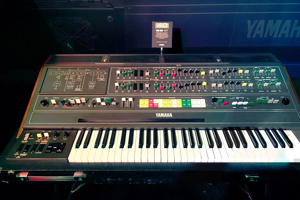 Yamaha CS-80 (1977) 8-voices dual-layered analog polyphonic synthesizer, with 22 preset sounds & 6 user patches - VINTAGE SYNTH @ YAMAHA BOOTH - 2015 NAMM Show