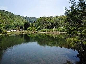 Lake Megami - Yo no Ike in Nagawa, Chiisagata District