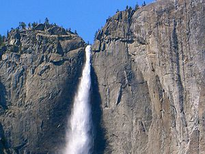 Yosemite Falls, an attraction near Camp Curry