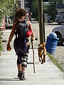 Young Woman Walking with Dog - Dawson City - Yukon Territory - Canada.jpg