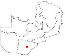 Location of Choma in Zambia