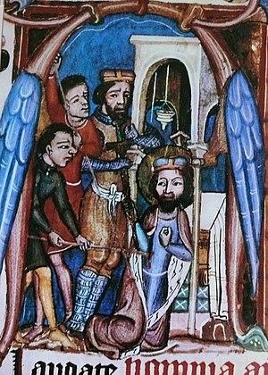 Boleslaus I, Duke of Bohemia - Murder of Duke Wenceslaus, Liber viaticus (14th century)