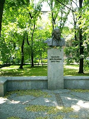 Tadeusz Boy-Żeleński - Bust, Kraków Planty