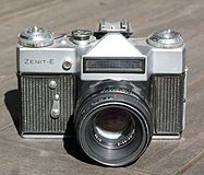 Zenit - E camera with Helios 44-2 lens.JPG