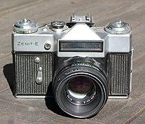 Zenit - E camera with Helios 44-2 lens.JPG