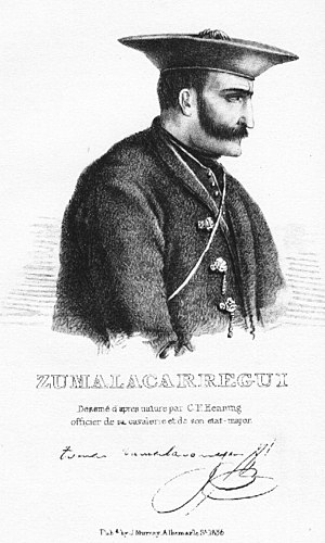 Third Carlist War - Tomas de Zumalacárregui commandant of the Carlist forces in the Basque Country