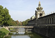 Bridge at the Kronentor (crowned gate) of the Zwinger Palace.