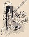 """LITERARY"" art detail, from- Virginia Tech Bugle 1899 (page 97 crop).jpg"