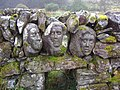 """""""The Quorum"""" - Carved heads in old sheep pens. - geograph.org.uk - 1015077.jpg"""