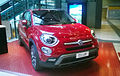 """ 15 - ITALY - Fiat 500X front views red urban mini SUV.jpg"