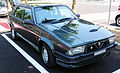 """ 15 - ITALY - Parked automobiles out of Museo Storico Alfa Romeo Milan - in this pics Alfa 75.jpg"