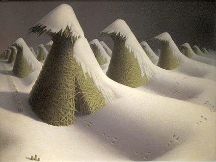January (1939) Grant Wood, setting of Michael Daugherty's 2nd movement,